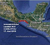 94-E (pot. CARLOTTA) zieht wahrscheinlich nach Chiapas / Oaxaca, Mexiko