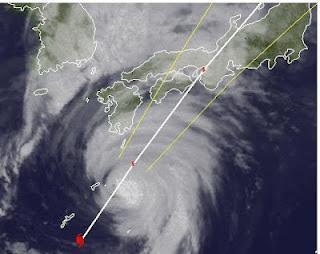 GUCHOL (BUTCHOY) erreicht Kyushu, Japan als Taifun