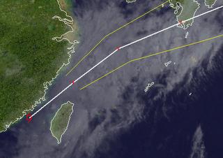 Tropischer Sturm TALIM (CARINA) erreicht Taiwan - Taoyuan Airport Taipei meldet eingeschränkten Flugverkehr