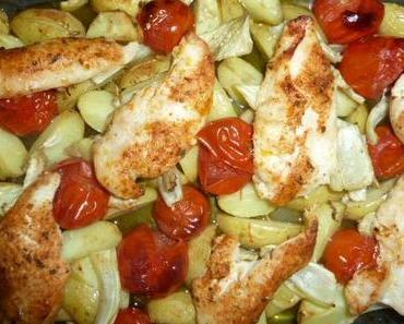 Sommerlich und mediterran: Poulet und Kartoffeln