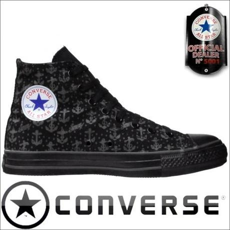 Converse Chucks 1Y830 Sailor Jerry Anchor Print Black HI
