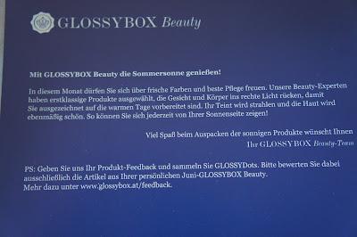 Glossybox Österreich Juni 2012 - im Zeichen des Sommers