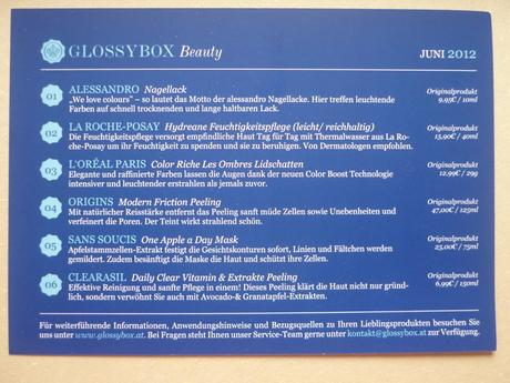 Glossybox Juni (Österreich)