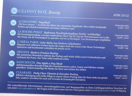 GlossyBox Österreich - Juni 2012