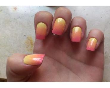 Mein Versuch: Ombré Nails
