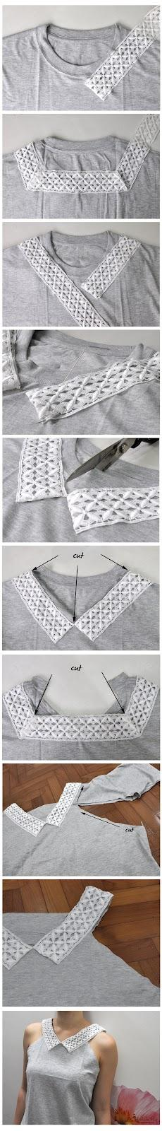 Re-designing a T-Shirt / Разное / Своими руками / Pinme.ru / Юленька Жуйкова