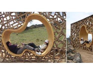 Schöner rasten – ergonomisch geformte Holzmodule