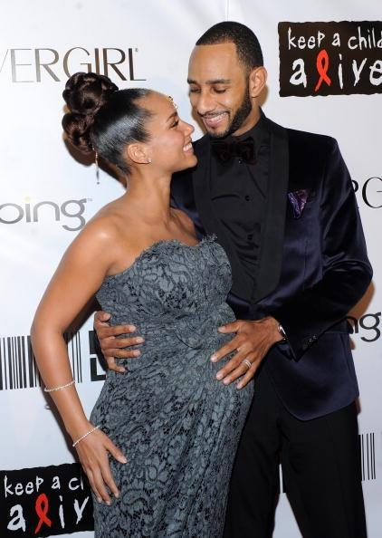 NEW YORK - SEPTEMBER 30: Singer Alicia Keys and husband producer Swizz Beatz attend the 2010 Keep A Child Alive's Black Ball at the Hammerstein Ballroom on September 30, 2010 in New York City. (Photo by Stephen Lovekin/Getty Images)