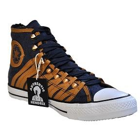 Converse All Star Chuck Taylor Chucks 117866 Loop Lace Jimmy Hendrix Gold Blau Uniform