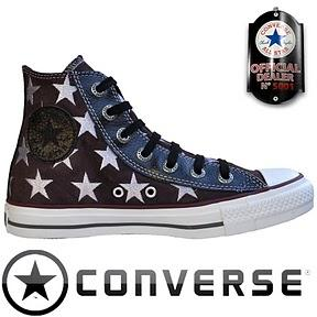 Converse All Star Chuck Taylor Winter Chucks 117371 Black Braun White Leder Sterne