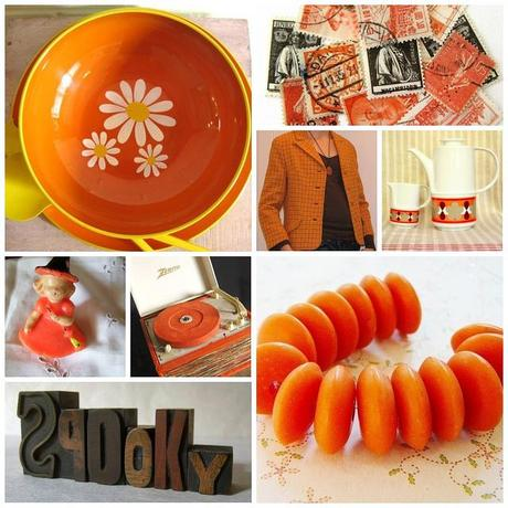 RetroFriday with orange magic from etsy...