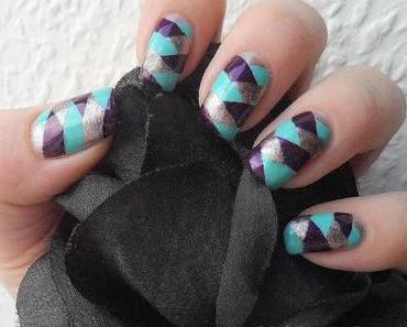 Nageldesign - braided nails/Fischgrätenzopf