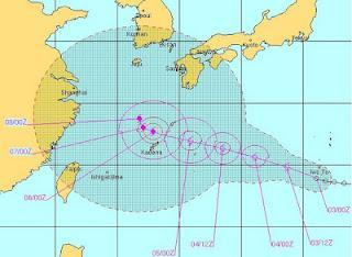Tropischer Sturm   Taifun HAIKUI: Japan, Korea und China im Visier