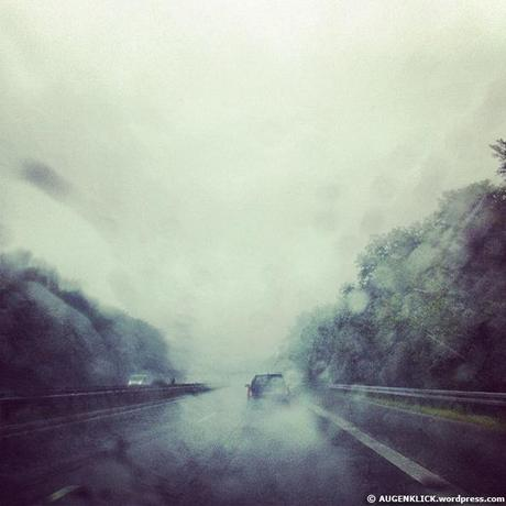 Regen auf der Autobahn made with Instagram by Jürgen Kroder