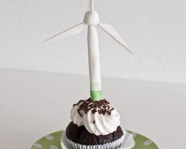 Tutorial: Cupcake-Topper Windkraftanlage bzw. Windrad aus Blütenpaste