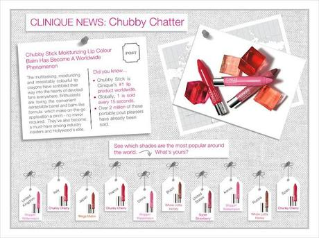 Clinique's Chubby Stick Worldwide