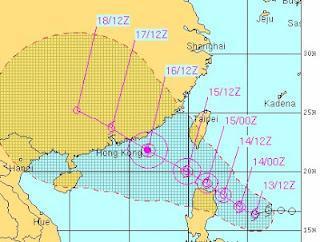 Tropischer Sturm KAI-TAK (HELEN): Philippinen, Taiwan und Hong Kong im Visier