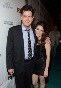 Daniela Bobadilla mit Charlie Sheen Anger Management