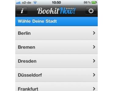BookitNow! nun auch in Paris, Prag und Zürichverfügbar