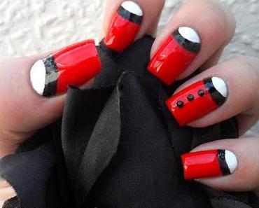 Dita von Teese Contest  auf Magimania - Ruffian Nails und ich pinsel einfach mal Halbmondnägel