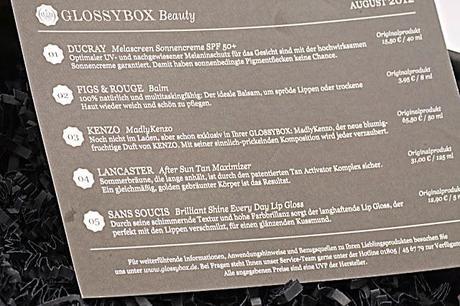 Eingetroffen meine erste GlossyBox August 2012 - was ist drin?