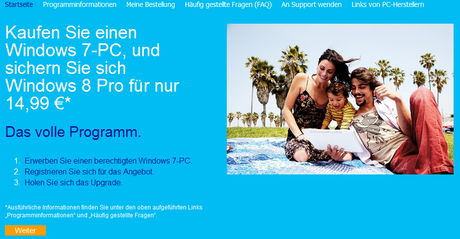 Windows 8 Pro ab sofort für 15 Euro