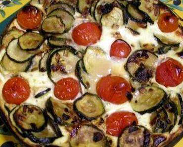 Zucchini-Quark-Auflauf