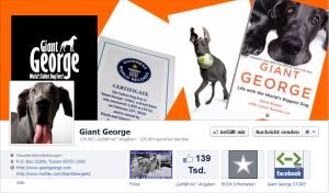 """Hund """"Giant George"""", die Rekord Dogge"""