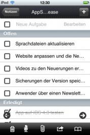 iNotes+ – Formulardesigner, Arbeitsberichte, Notizen etc. auf iDevices (Video)