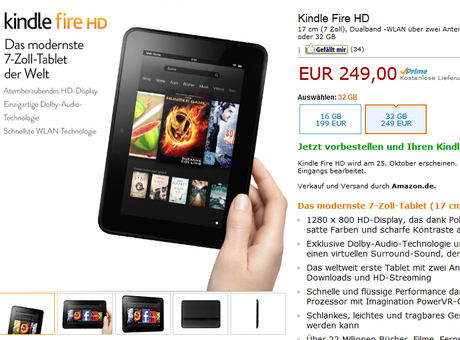 Amazon Kindle Fire HD vorbestellen