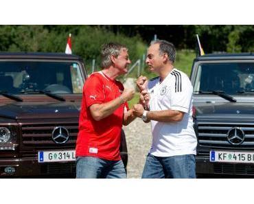 WM-Qualifikation: Walter Schachner und Hansi Müller testen die Mercedes-Benz G-Klasse