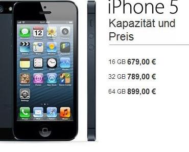 iPhone 5 – Preise & Tarife !