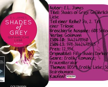 """[Rezension] """"Shades of Grey: Gefährliche Liebe"""" von E.L. James"""