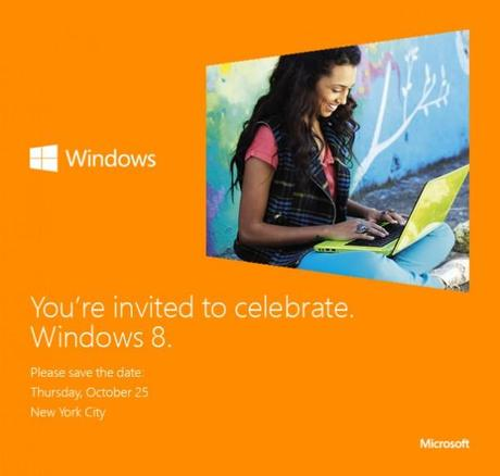 Microsoft Save the date: Windows 8 Release am 25. Oktober