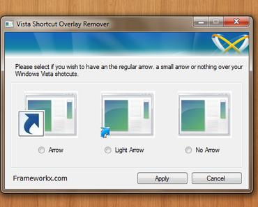 Tip: Verknüpfungspfeile unter Windows 7 entfernen