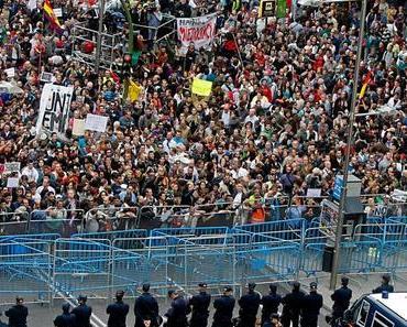 Madrid: 1.400 Polizisten schützen die Volksvertreter vor dem Volk