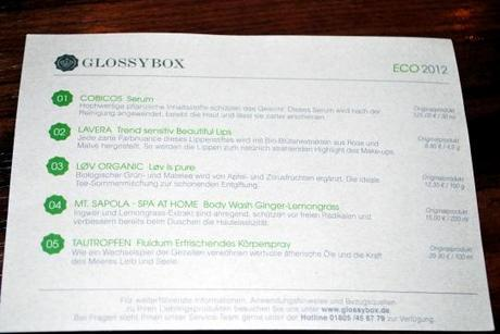 Review: GLOSSYBOX Eco
