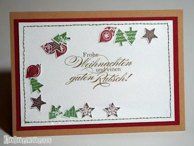 sch ttel weihnachtskarte mit stampin up. Black Bedroom Furniture Sets. Home Design Ideas