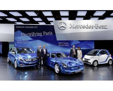 """Mercedes-Benz und smart auf dem Mondial de l'Automobile 2012 in Paris: """"Electric Drive"""" für alle Fälle – drei Weltpremieren in Paris"""