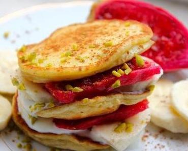 Bananen-Pancakes mit Joghurt