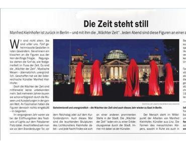 Berliner Zeitung Waechter der Zeit sind wieder in Berlin zum Festival of Lights