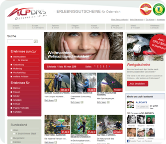 Screenshot Alp Days Webseite