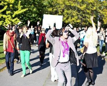 Die Silent Climate Parade tanzt wieder durch Berlin