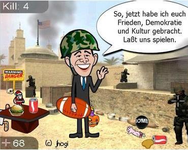 """Cartoon: """"Lasst uns spielen!"""""""