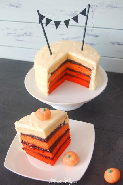 ombre vintage halloween torte. Black Bedroom Furniture Sets. Home Design Ideas