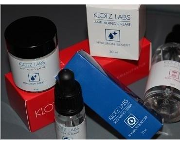 Hyaluron Benefit Creme, Hyaluron Booster Serum und Body Grader Serum von KLOTZ LABS