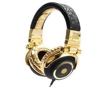 Zirkonia Kopfhörer & Headset Gold Glitzer – Heben Sie Eleganz hervor!