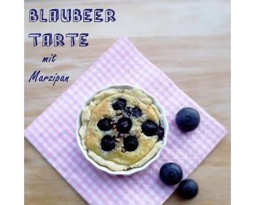 Blaubeer Tarte mit Marzipan