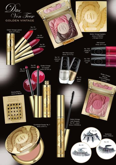 [Preview:] Artdeco Dita Von Teese Golden Vintage LE