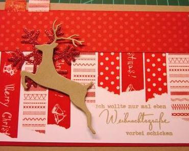 Masking-Tape-Weihnachtskarte